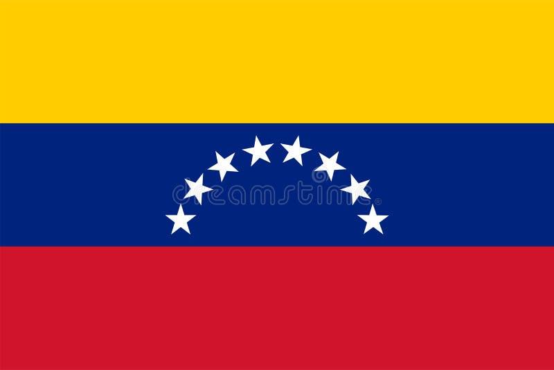 Die Originalflagge Venezuelas,Vector illustriert die Farbe des Original, der offiziellen Farben und der Proportion korrekt, isoli lizenzfreie abbildung