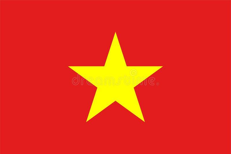 Die Originalflagge von Vietnam,Vector Illustration Die Farbe des Originals, der offiziellen Farben und des Proportion korrekt,Kor stock abbildung
