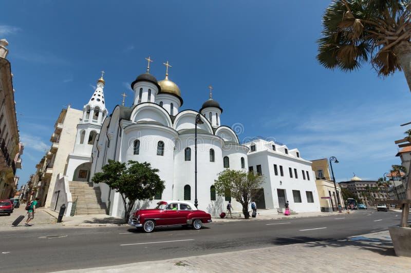 Die orthodoxe Kirche in Havana, Kuba stockbilder