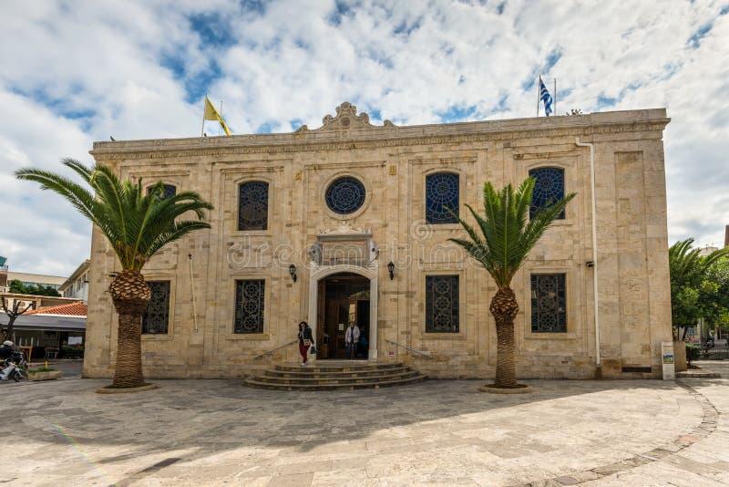 Download Die Osmane Vezir-Moschee In Iraklio-Stadt, Kreta, Griechenland Redaktionelles Stockfoto - Bild von kathedrale, tourismus: 106801458