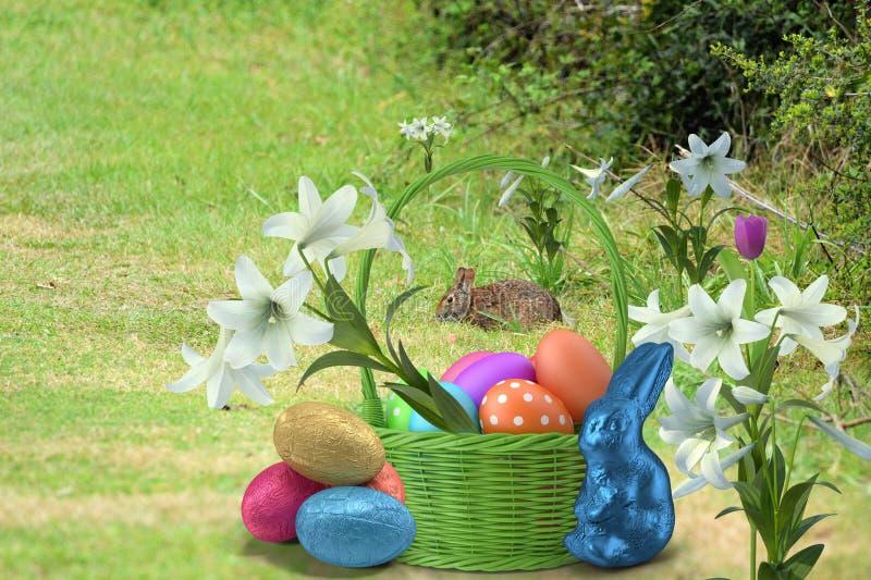Die Ostern-Jahreszeit beträgt eine Zeit, Dank sich zu freuen und zu sagen stockbilder