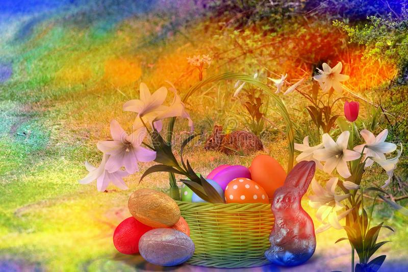 Die Ostern-Jahreszeit holt Familien zusammen für Liebe und Frieden lizenzfreie stockbilder