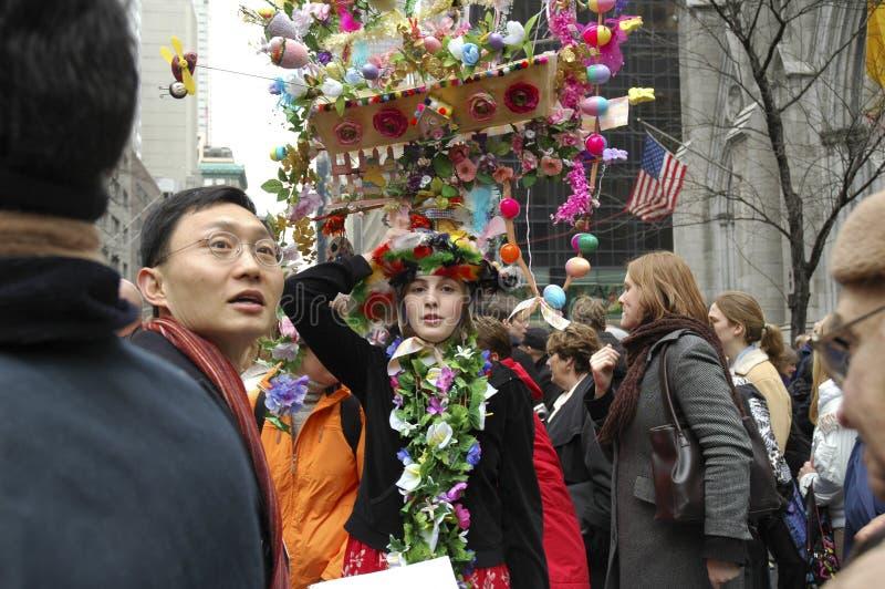 Die Ostern-Parade vor St- Patrick` s Kathedrale auf 5. Allee stockbild