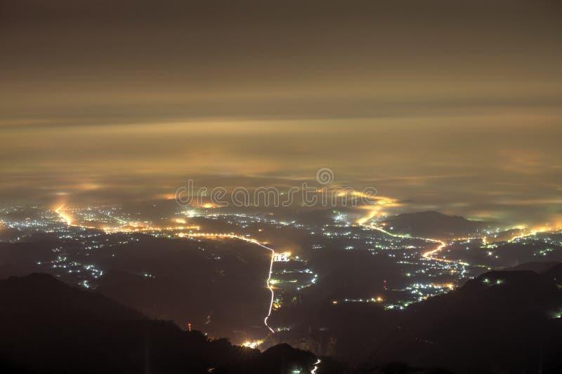 Die Panoramaansicht von Chiayi-Stadt lizenzfreie stockfotografie