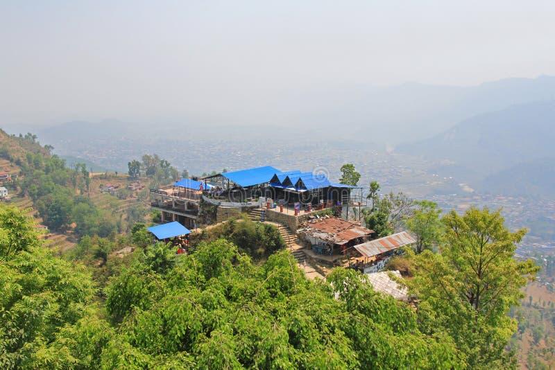 Die Panoramablickpunktstelle in Pokhara, Nepal stockfoto