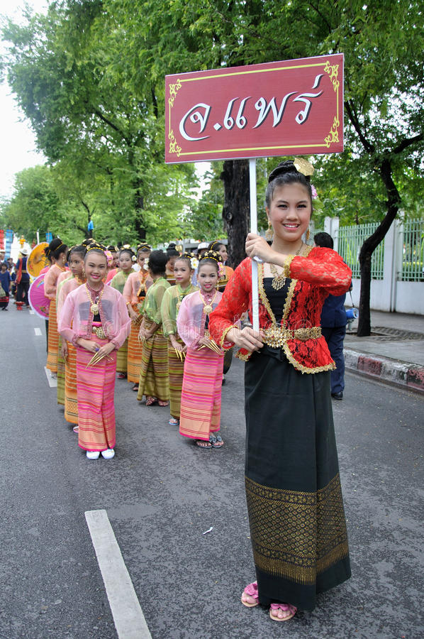 Die Parade der Herstellung der traditionellen Übertragungsgüte lizenzfreie stockfotos