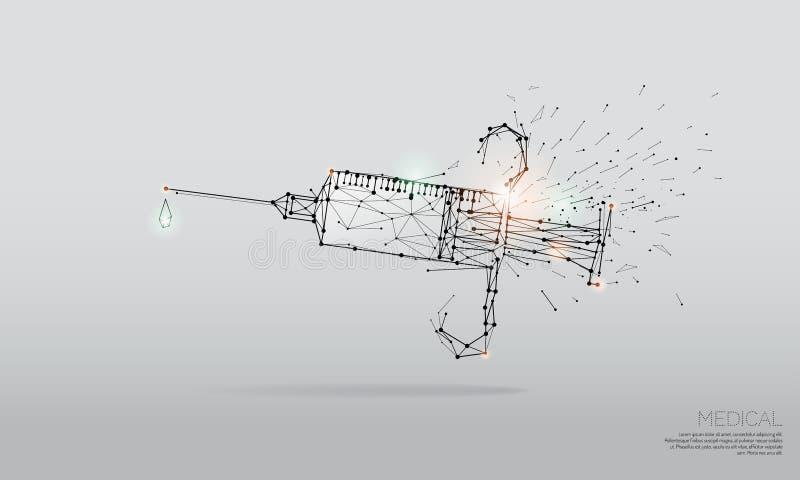 Die Partikel, polygonale, geometrische Kunst - Impfstoff vektor abbildung