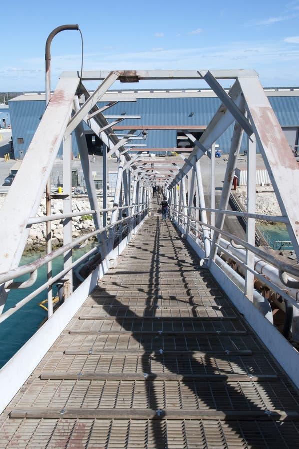 Die Passage des Schiffs im Trockendock lizenzfreie stockfotos