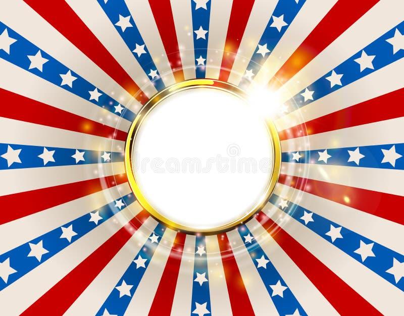 Die Patriotischen Hintergrund Vereinigten Staaten Von Amerika Mit ...