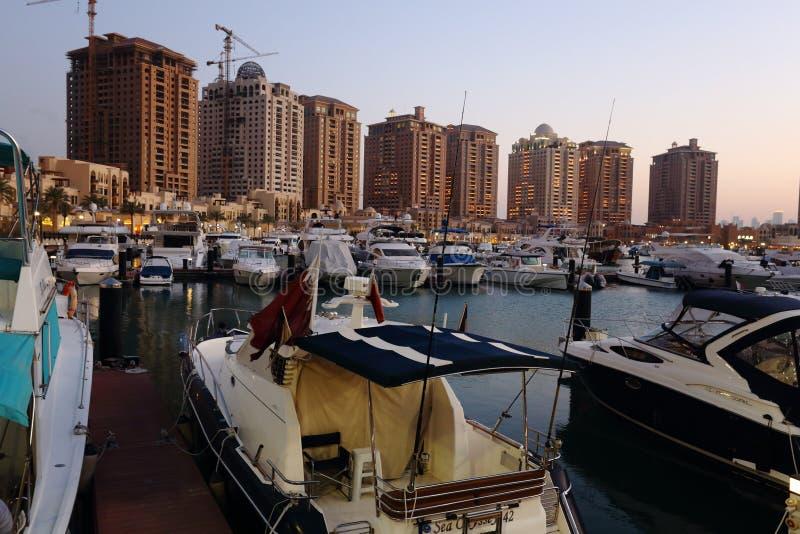 Die Perlenentwicklung in Katar lizenzfreies stockfoto