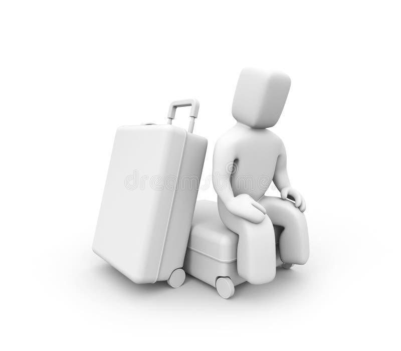 Die Person erwartet Flug lizenzfreie abbildung