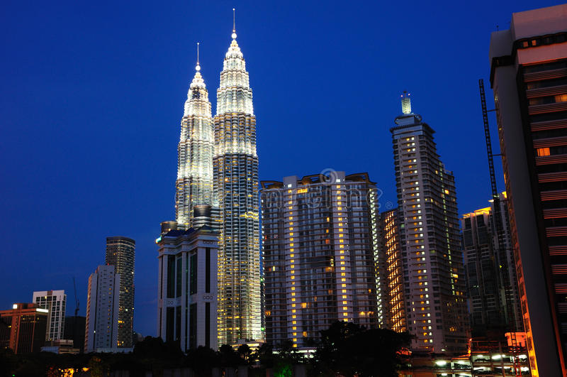 Die petronas-Twin Tower stockbild