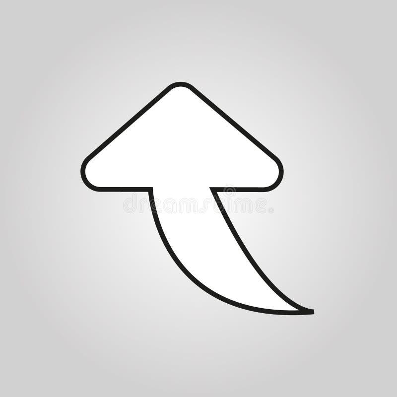 Die Pfeillinie Ikone Richtung und Pfeil, Navigationssymbol Flache Vektorillustration EPS10 lizenzfreie abbildung