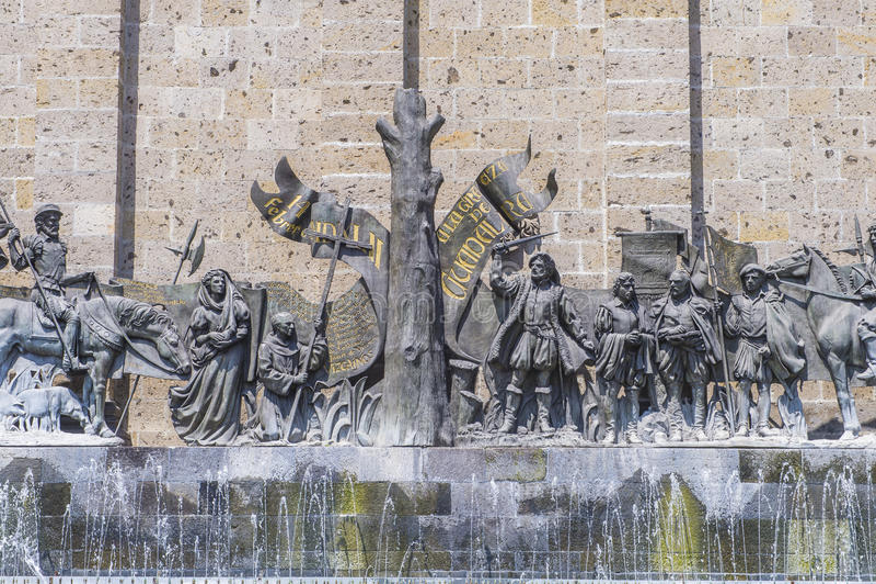 Die Piazza Fundadores in Guadalajara stockbild
