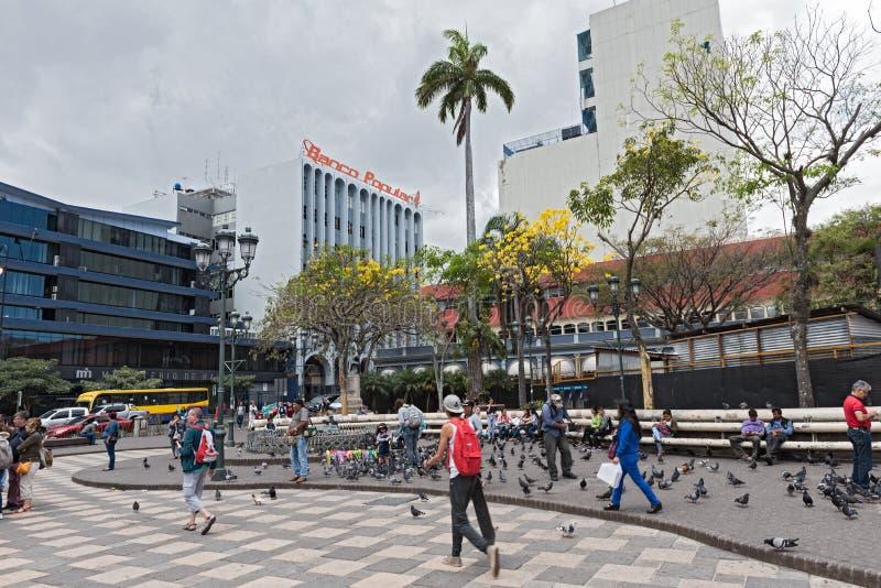 Die Piazza Juan Mora Fernandez in San Jose, Costa Rica lizenzfreies stockbild