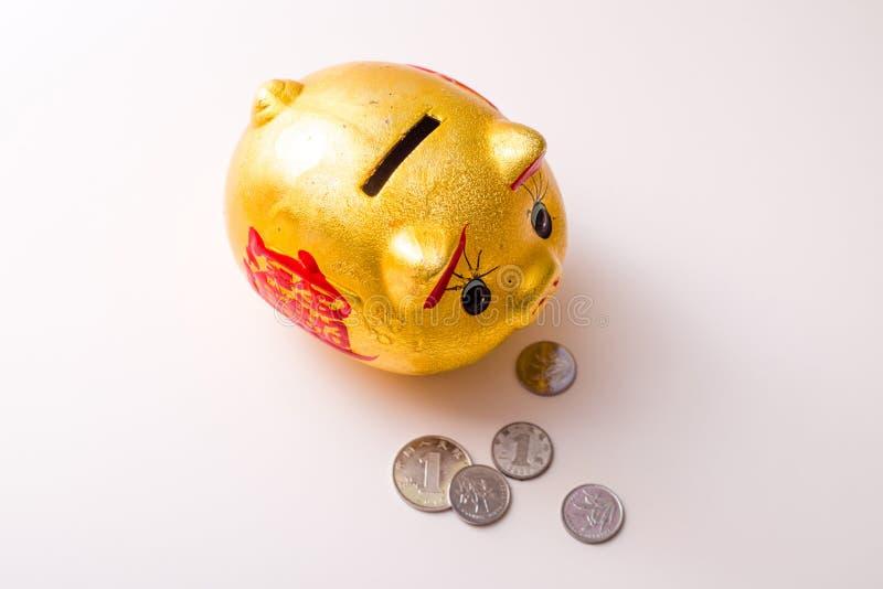 Download Die Piggy Querneigung Des Schweins Stockbild - Bild von außer, münze: 106803117