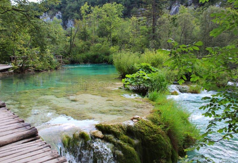 Die Plitvice Seen stockbilder