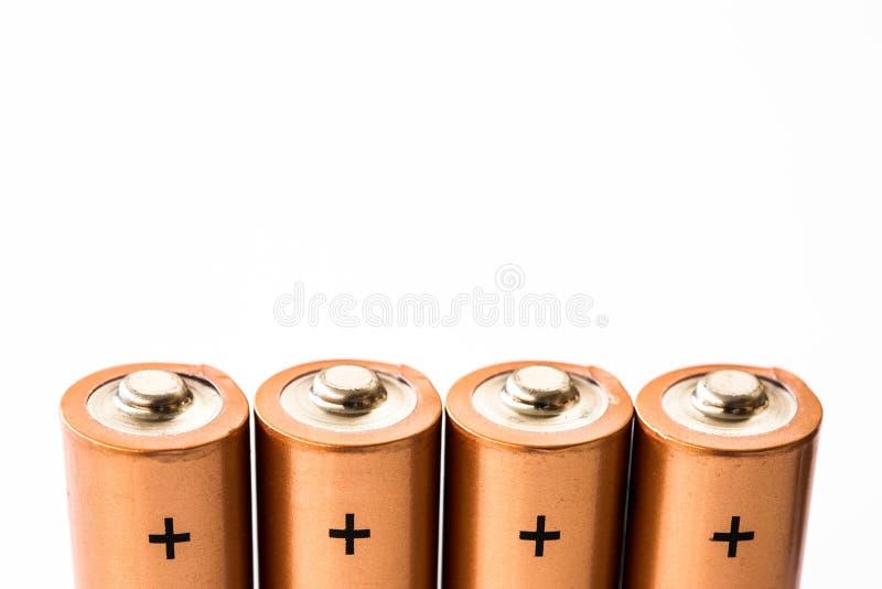 Die Plus-Klemmen von Wegwerfbatterien lizenzfreie stockfotos