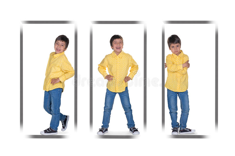 Die Porträts des Jungen stockbilder