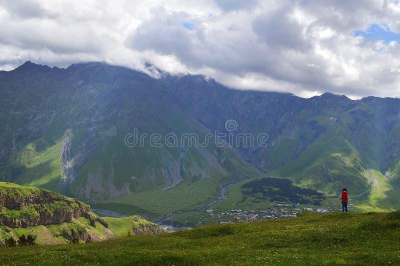 die Pracht des Kaukasus stockfotografie