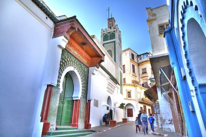 Die prachtvolle große Moschee in Tanger lizenzfreie stockfotos