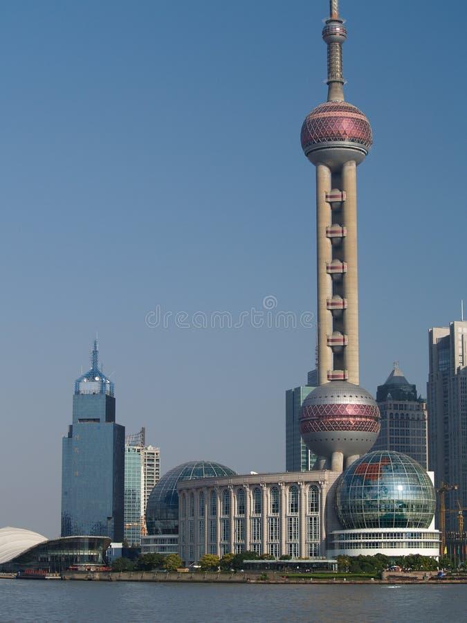 Die Promenade Shanghai stockbilder
