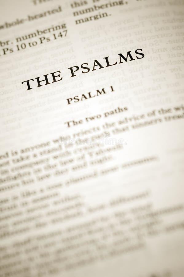 Die Psalme lizenzfreies stockbild