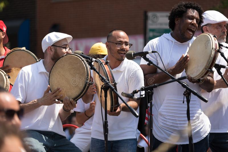 Die puertorikanischen Parade der Leute lizenzfreie stockfotos