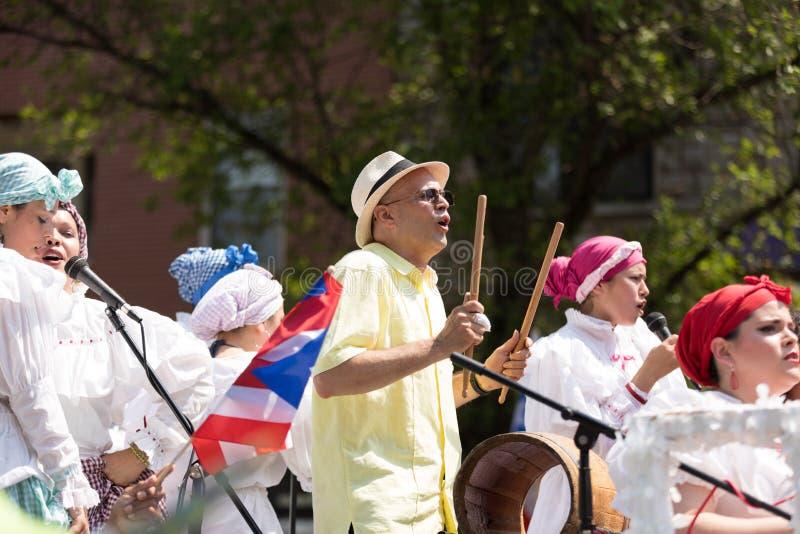 Die puertorikanischen Parade der Leute lizenzfreies stockfoto