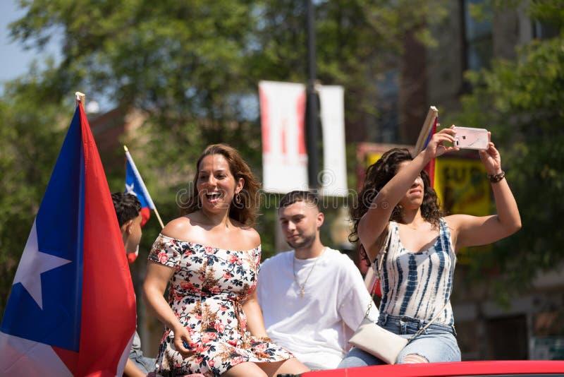 Die puertorikanischen Parade der Leute stockfotos