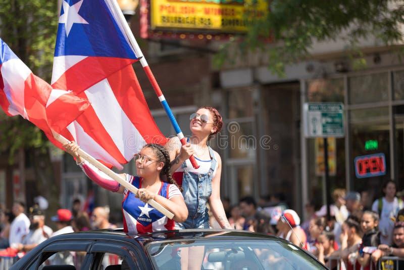 Die puertorikanischen Parade der Leute stockfoto