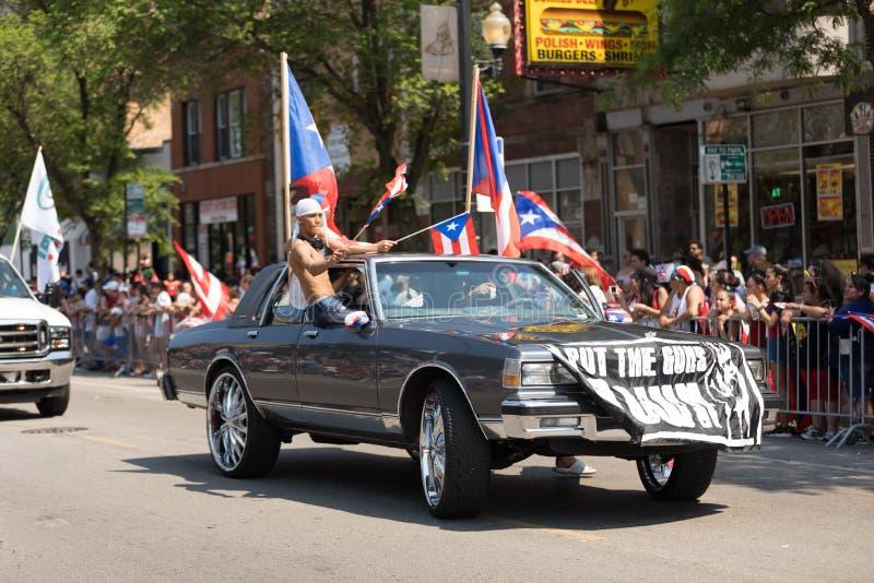 Die puertorikanischen Parade der Leute lizenzfreies stockbild