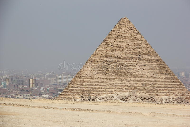 Die Pyramiden von Giza, Kairo, Ägypten. lizenzfreie stockbilder