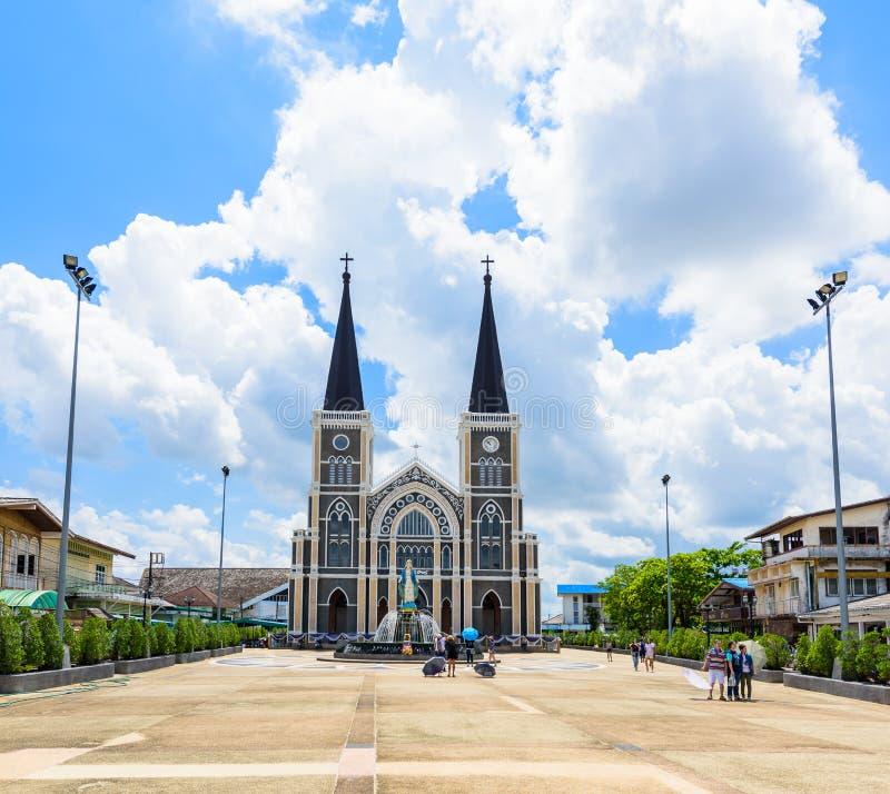 Die Römisch-katholische Kirche an der Chanthaburi Provinz, Thailand lizenzfreie stockfotos