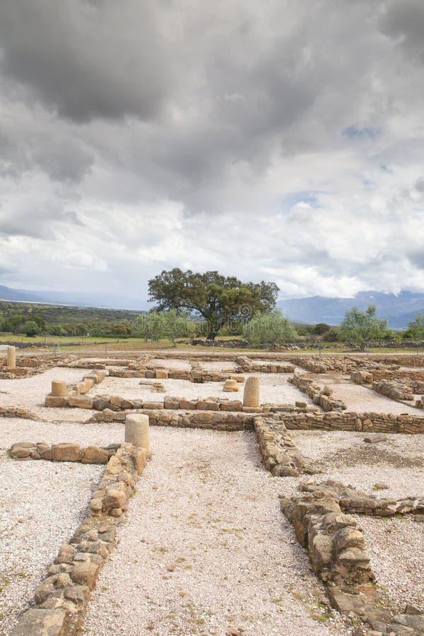 Die römische Stadt von Cáparra in Extremadura, Spanien stockbilder