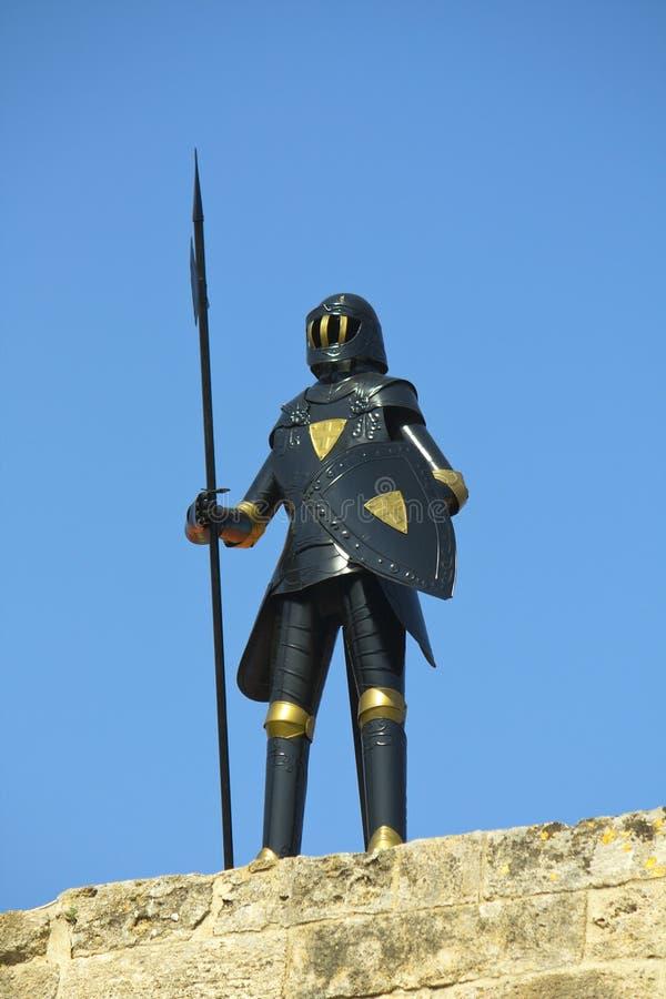Die Rüstung des Ritters in Rhodos-Insel in Griechenland stockfotografie