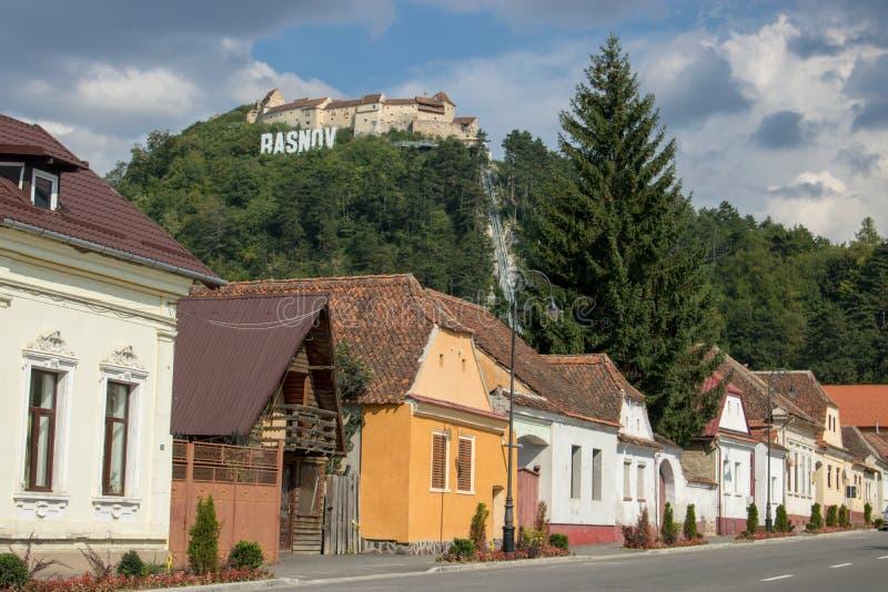 Die Rasnov-Festung, Rumänien lizenzfreie stockfotos