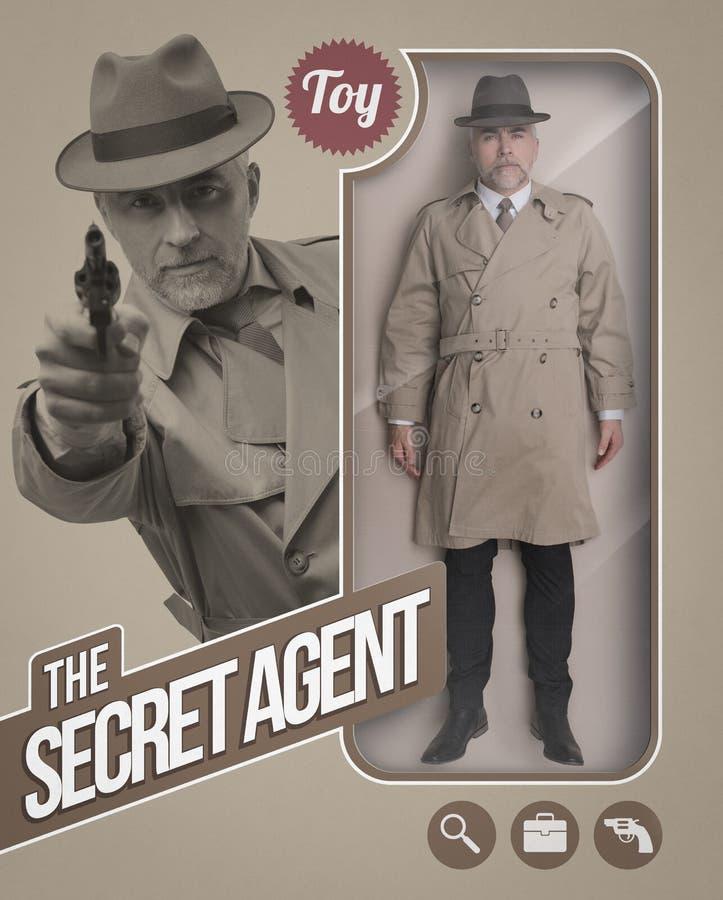Die realistische Puppe des Geheimagenten lizenzfreie stockbilder
