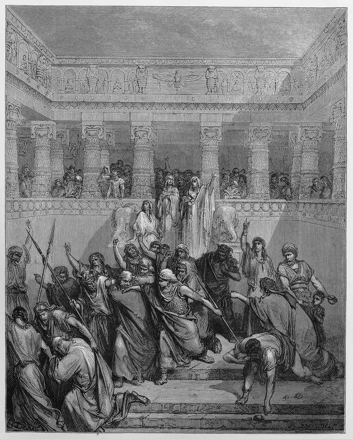 Die Rechtfertigung von Susanna lizenzfreie abbildung