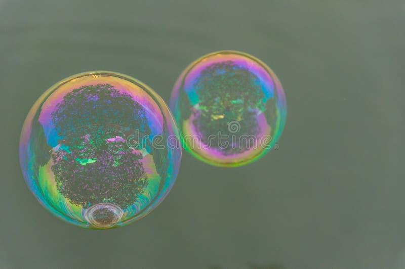 Die Regenbogenblasen vom Blasengebläse lizenzfreie stockbilder