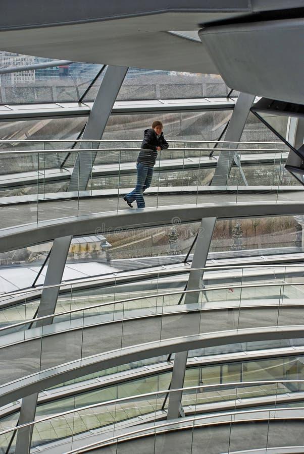Die Reichstag Haube lizenzfreie stockbilder