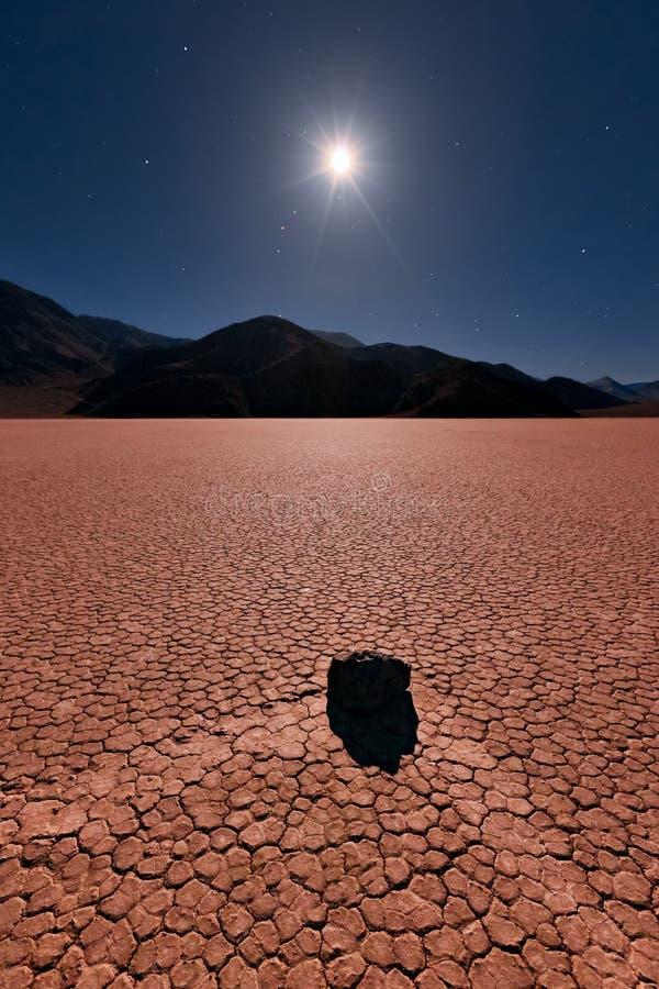 Die Rennen-Spur, Death- ValleyNationalpark stockbild
