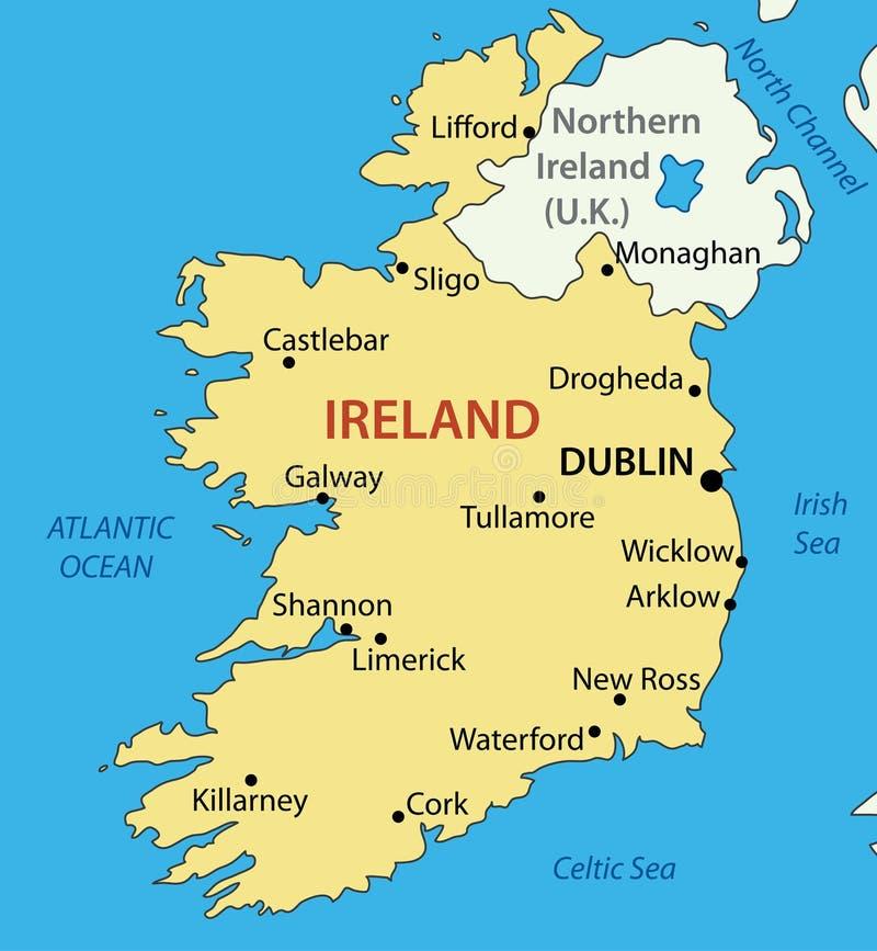 Die Republik Irland - Karte lizenzfreie abbildung