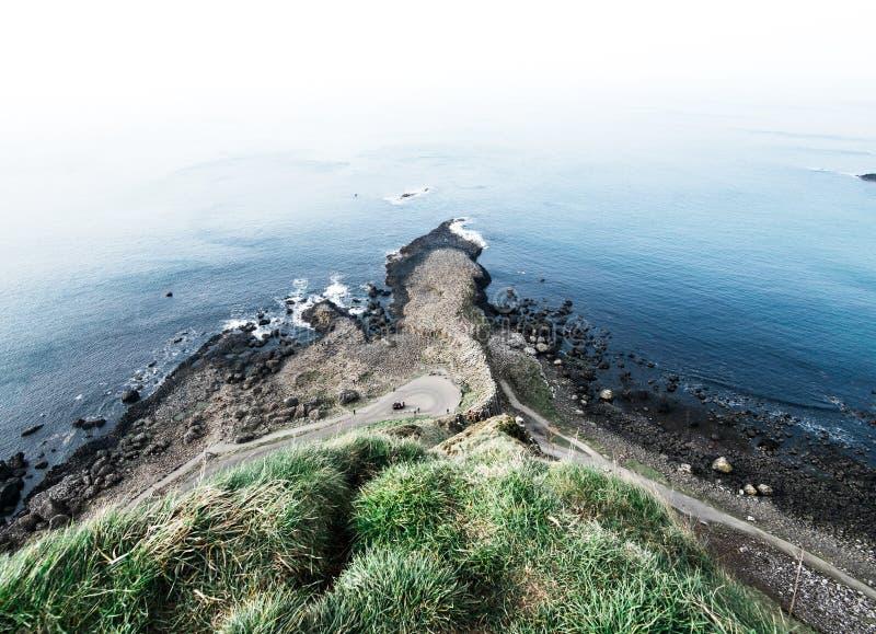 Die riesige ` s Damm zeigt alte irische vulkanische Geschichte an lizenzfreie stockfotos