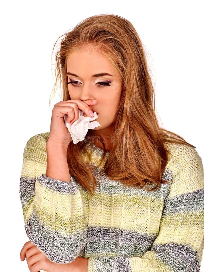 Die Risse der Frauen Die Gründe sind möglicherweise unterschiedlich colds lizenzfreies stockbild