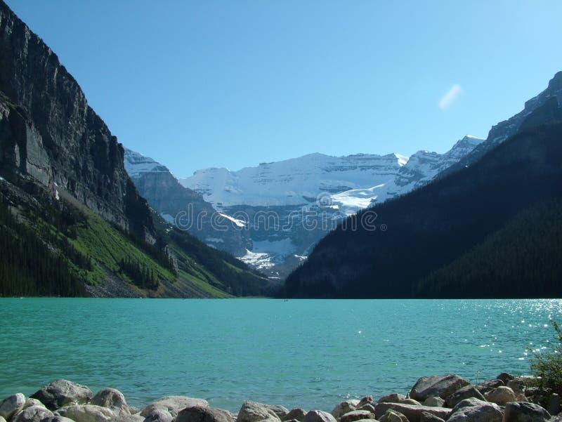Die Rockies - das Lake Louise lizenzfreies stockbild
