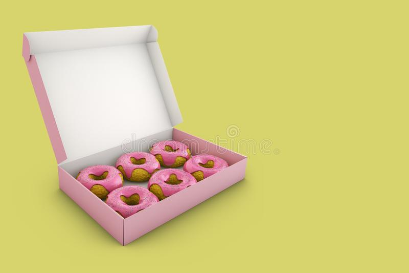 Die rosa Schaumgummiringe vektor abbildung