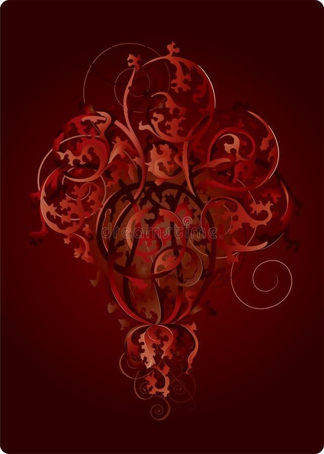 Die Rotblumen lizenzfreie abbildung