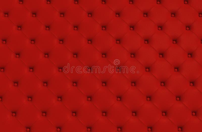 Die rote Beschaffenheit der Haut steppte Sofa vektor abbildung