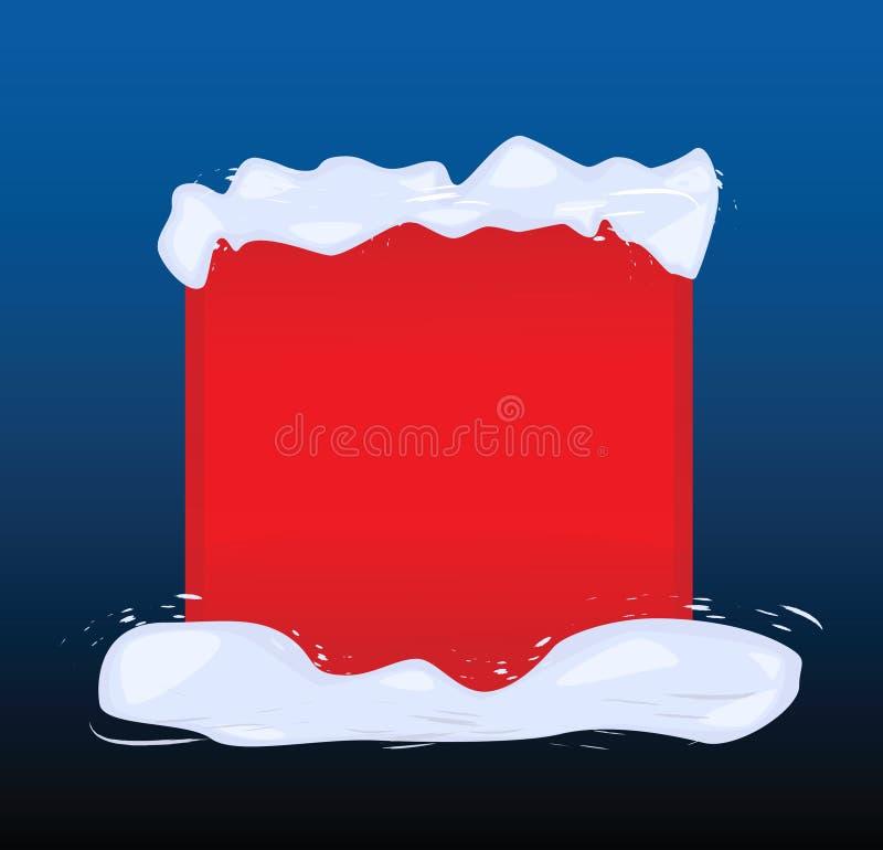 Die rote Fahne geholt durch Schnee stock abbildung